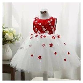 秋兒童禮服裙白雪公主裙白色婚紗花童蓬蓬裙 公主裙女童禮服