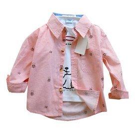 兒童襯衫防曬衣服 男女童純棉長袖襯衫寶寶中小童春夏薄款襯衣