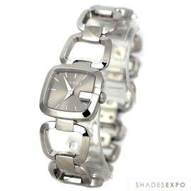 美国代购GUCCI古弛手表腕表银色不锈钢表带女表YA125507
