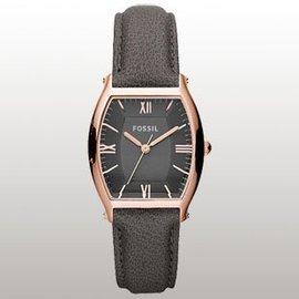 !FOSSIL手表 皮帶女表 酒桶型手表女 女式表 ES3056