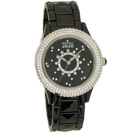 紐約 JO96785-88F 都會自信陶瓷晶鑽腕錶 銀 黑 38mm Naturally