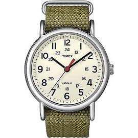 Timex Weekender Slip~Thru Watch ~ Olive Green
