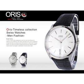 ~腕時計本舖~ORIS 瑞士 機械表 Classic 42mm 藍寶石 防水 SV 733