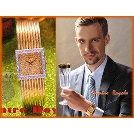 瑞士皇家Montre Royale 豪華男鑽錶 極新