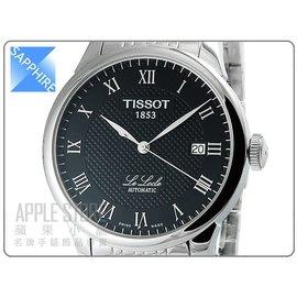 TISSOT 天梭 Le Locle 力洛克系列典雅機械錶~黑 ^# T41148353