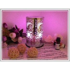 ~享逸 館~不鏽鋼雕花高 LED微調式七色自動變色薰香燈^~ 期間 1瓶純天然植物性精油^