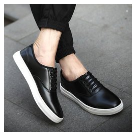 新品 男士 鞋潮流白色英倫小皮鞋男鞋林彎彎帆船鞋男生板鞋