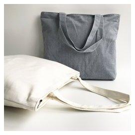 純色男女包手提包環保帆布包 大容量學生書包單肩包 袋