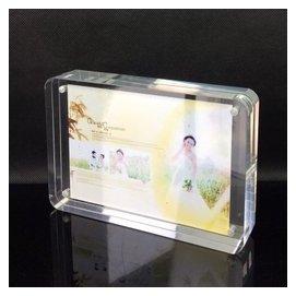品順圓角擺臺 亞克力相框架 雙面透明磁鐵相框 仿水晶67寸8寸10寸