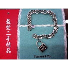TIFFANY&CO 925 純銀 鎖頭 手鍊 B0648