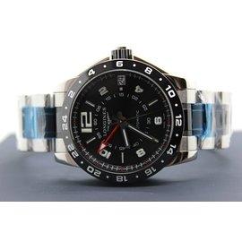 浪琴Longines海軍上將GMT黑色陶瓷自動機械男錶 L3.669.
