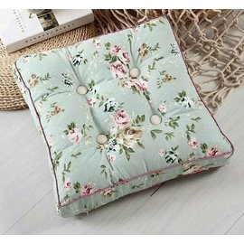 粉紅玫瑰 屋^~碎花玫瑰加厚坐墊 榻榻米墊^~45^~45公分