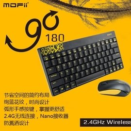 MOFii 摩天手 GO詒80 無線鍵盤鼠標套裝 筆記本電腦辦公鍵鼠套裝