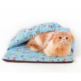 方形保暖半開防風貓窩 發聲響紙寵物窩 小蛋糕貓咪房子貓床貓睡袋