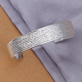 925純銀手鐲女飾品首飾寬邊花線手鐲手飾YB193