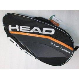 ~宏亮~HEAD 網球拍 拍袋 揹袋 8支裝拍袋 5折 1390 黑橘配色 隔熱 不傷網球