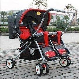 夢想國度^~ 款!雙胞胎嬰兒車龍鳳胎手推車寶寶推車童車雙人推車推把換向 龍鳳胎雙胞胎推車