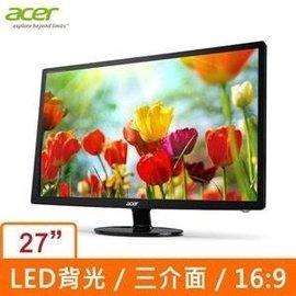~3 23有 ~Acer S271HL 27吋 LED 液晶螢幕 ^( 貨^)超高對比 H