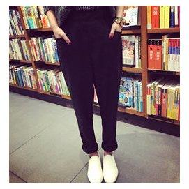 麻豆修身顯瘦西裝褲女高腰 呢子正裝褲 秋裝長褲職業女褲子F55