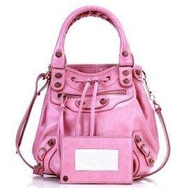 新款Balenciaga巴黎世家水桶手提斜挎包177290-粉色(177290)