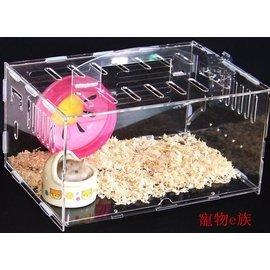 全透明倉鼠籠子 水晶亞克力籠 倉鼠窩 屋 手提籠 外帶籠 倉鼠別墅