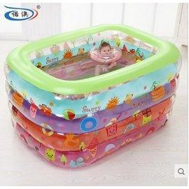諾澳 大號多彩嬰兒遊泳池 識物卡通遊泳池 遊樂池
