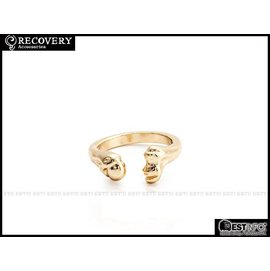 Recovery 2014 SS Thigh bone Ring C型 骷髏 股骨 戒指 [RC-4004] 亮金 E0318