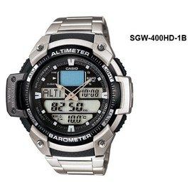 CASIO手錶 五組鬧鈴SGW~400HD~1B溫度 高度 氣壓戶外 男錶 貨