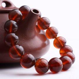 君樂齋純天然琥珀蜜蠟手串 緬甸金棕棕紅珀男女款圓珠手鏈驚爆價