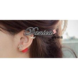 ?耳環?韓國氣質甜美女神款簍空五角星星橡皮雙面2用水晶耳環^(6色^)K90734 價 D