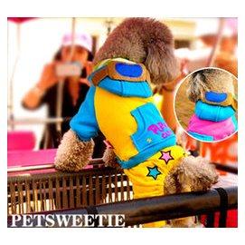 ~曼尼寵物 屋~^~2012年 款^~飛行員變身裝寵物狗狗衣服四腳褲變身裝飛行帽超級明星