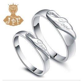 一對只要2688!天使翼對戒 925銀情侶戒指 銀飾男女飾品 生日