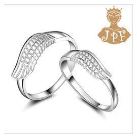 一對只要2688!天使翅膀情侶對戒 925銀情侶戒指 帶著愛一起飛翔 生日