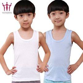 男童背心夏純棉 兒童中大童薄款無袖打底白色內衣背心