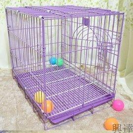可拆卸活底寵物狗籠子泰迪加粗大型犬鐵籠貓籠兔子籠60^~41^~51cm