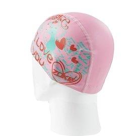 洲克 兒童泳帽 舒適卡通印花活潑女童遊泳帽 男童中小學生泳帽