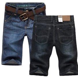 牛仔短褲男裝 薄款休五分褲直筒寬鬆大碼休閒男士修身5分牛