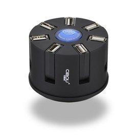 CIBOUusb分線器一拖七電腦高速hub多接口USB轉換器帶電源口充電
