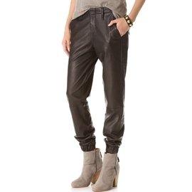 彈力新潮奢華顯瘦 羊皮緊身真皮褲修身長褲子秋女Q~A05~35