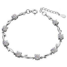 卡凡珠寶 純銀手鏈 手環 首飾 可愛 復古  女 精美 鑽石
