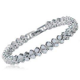 藍馨閣 AAA鋯石水晶羅馬手鏈鑽石手鐲珠寶首飾 七夕節 女