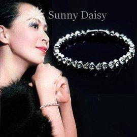 劉嘉玲款 AAA 鋯石鑽石 羅馬手鏈 超閃水晶韓國飾品