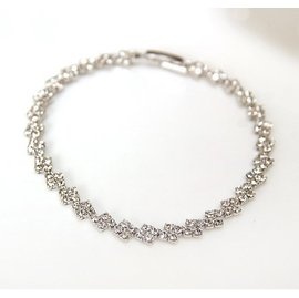 ~韓國飾品 ~奢華名媛氣質閃亮奧地利鑽石手鏈