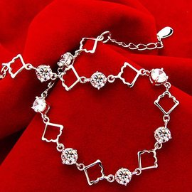 正品 SONA鑽石手鏈 性感迷人手飾 珠寶首飾 女復古星星銀飾品