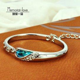 925純銀手鐲 玻璃鞋水晶手鏈正品瑞士鑽石手鏈全國包郵