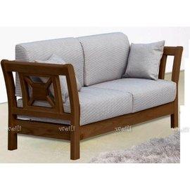 5N~新北蘆洲~偉利傢俱~威爾胡桃雙人座組椅~編號(N686~2)~N系列  ~