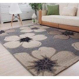 簡約田園臥室客廳茶幾短毛舒適混紡彎頭紗機織地毯 雪蓮 F38 ~毯~