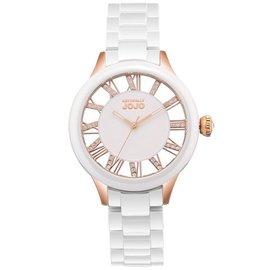紐約 JO96798~80R 都會自信鏤空陶瓷晶鑽腕錶 玫瑰金 白 38mm Natura