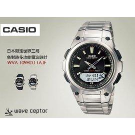 日限電波CASIO免對時雙顯電波錶 SV  美加對應電波時計WVA~109HDJ~1AJF