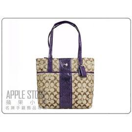 COACH 輕巧織布手提包 肩背包~ 25706 卡其紫色~^( ~ 在台^)